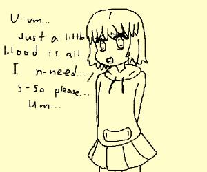Creepy Kawaii Anime Vampire Girl