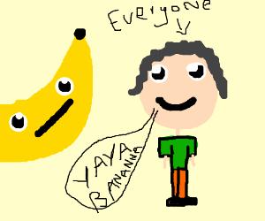 banana makes everyone happy