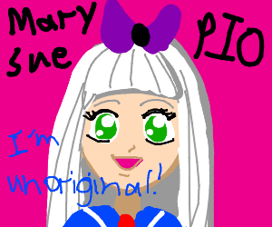 Mary Sue (unoriginal) OC Pass it on! (PIO)
