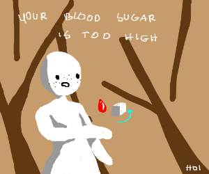 Your blood sugar is too high