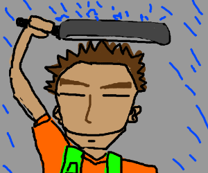 Brock Uses His Frying Pan As A Drying Pan Drawception