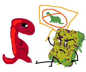 Shag carpet makes dino cry :(