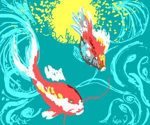 Koi pond drawception for Koi pond game online