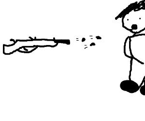 A gun that shoots three bullets