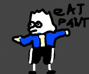 A kids cartoon plus the bone hurting juice mem