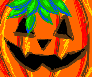 jocko'lanter with leafy hair