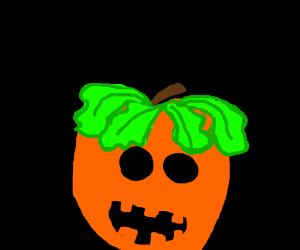 pumkin with lettuce hair