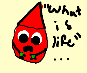 Red dye confused about life