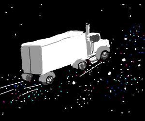 White truck in spaaaaaace!!