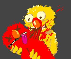 Yellmo brutally murdering Elmo