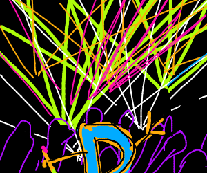 Drawception D at the Rave Party!