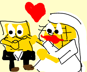 spongebob marries a waffle and isnt gay