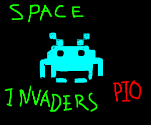 Space invaders PIO
