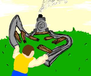 Battling derails