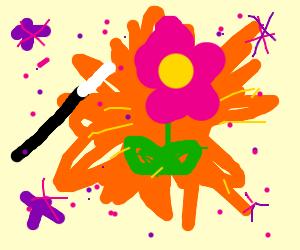 magic(flowers appear(boom))