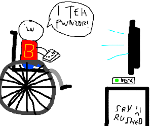wheelchair gamer drawing by princefalafel