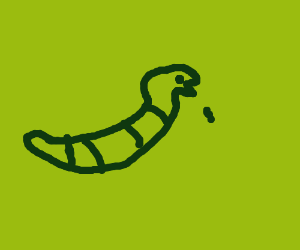 Very green snake is green