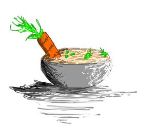 Delicious veggie soup
