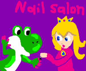 Yoshi has been to the nail salon