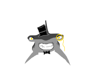 hammerhead with clothes