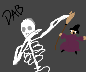 skeletons dabbing on haters