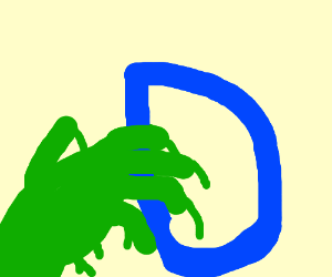 Slimy green hands takes a D