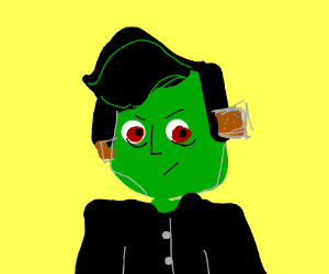 frankenstein in his goth faze