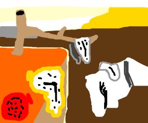 Salvador Dali art style (melting clock)