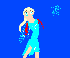 Elsa with no mouth and no arms