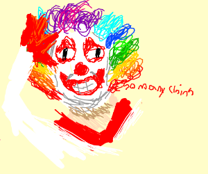 Doofy face clown