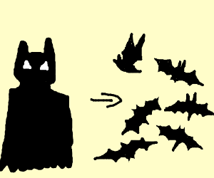 batman turning into a lot of bats