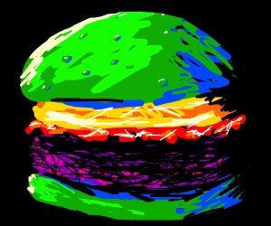 large Burger in inverse color