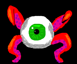Cool tentacle eyeball monster