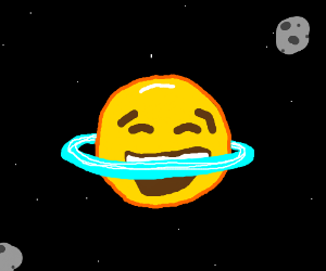 the crying laughing emoji is a planet