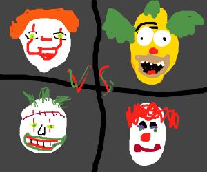 Clown battle royale!(Pennywise, Puddles, etc.)