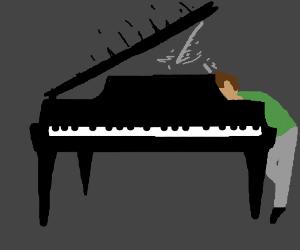 Eerie piano