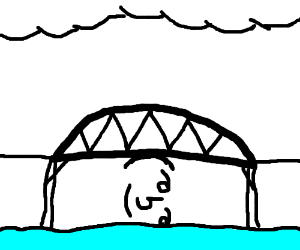 Lenny face props up bridge