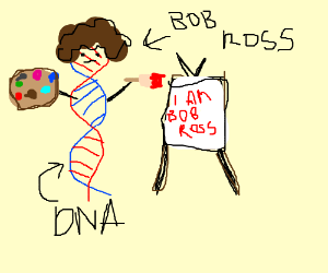 DNA strand wrongly attempts to be Bob Ross