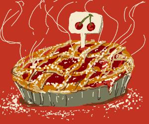 Cherry pie looks delicious
