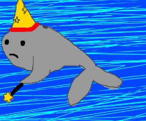 a whale disguised as a wizard