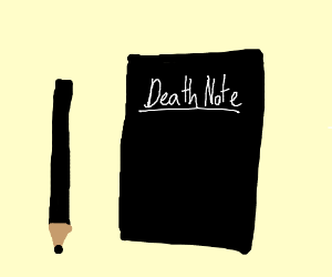 Death note and quil pen