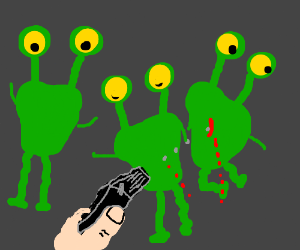shooting aliens in first person