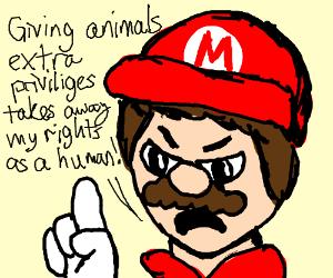 Mario explaining why he hates animal rights
