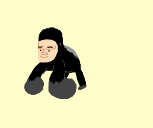 Gorilla with a man's face