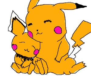 cuteness overload pikachu and pichu