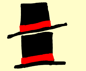 A top hat atop a top hat
