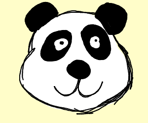 A panda playing the bouzouki