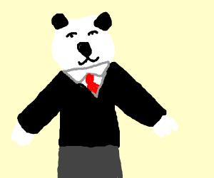 Panda in suit