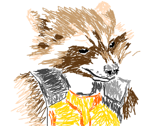 THE ALL MIGHTY RACCOON-MAN!
