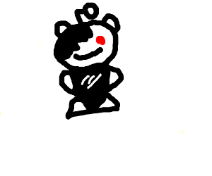 The Reddit logo as an edgy teen - Drawception